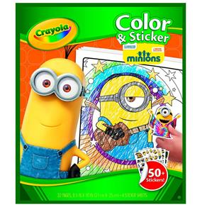 Livro para Colorir Minions Crayola