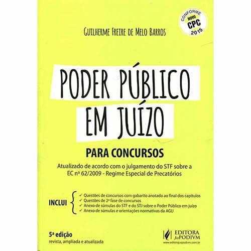 Livro - Poder Público em Juizo para Concursos