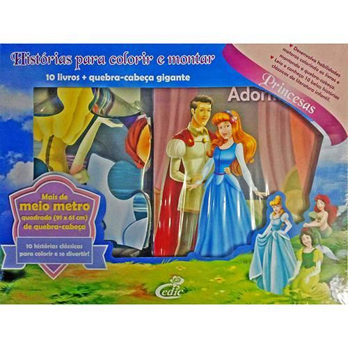 Livro - Princesas: Histórias para Colorir e Montar