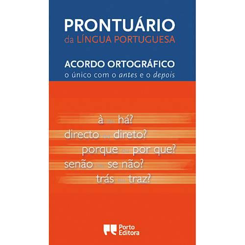 Livro - Prontuário da Língua Portuguesa - Acordo Ortográfico