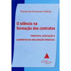 Livro - Silêncio na Formação dos Contratos, o