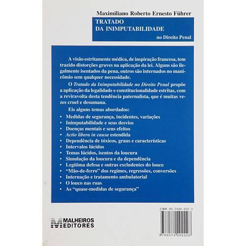 Livro - Tratado da Inimputabilidade no Direito Penal