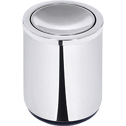 Lixeira Inox Basculante 10L Preta Polido - Tramontina