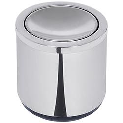Lixeira Inox Basculante 7L Preta Polido - Tramontina