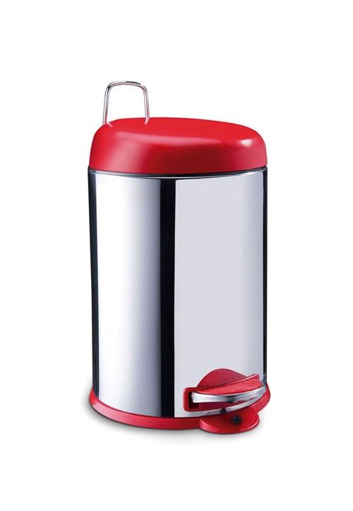 Lixeira Inox C/Pedal 12L Brinox Vermelho