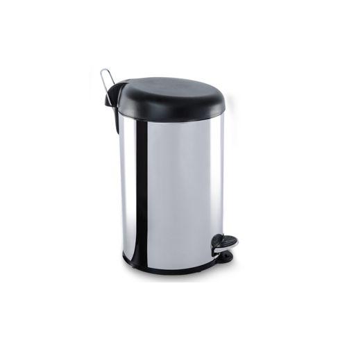 Lixeira Inox com Pedal e Tampa Plastica 12Litros - Decorline Lixeiras Ø 25 X 43 Cm 12 L