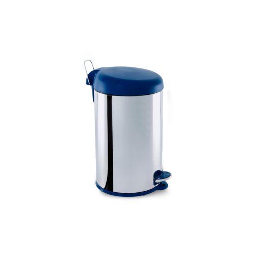 Lixeira Inox com Pedal e Tampa Plastica 12Litros Ø 25 X 43 Cm 12 L Brinox