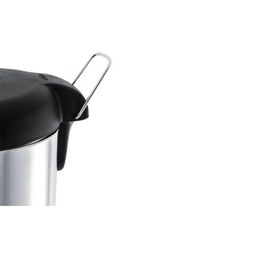 Lixeira Inox com Pedal e Tampa Plástica 5 Litros - Decorline Lixeiras Ø 20 X 31 Cm