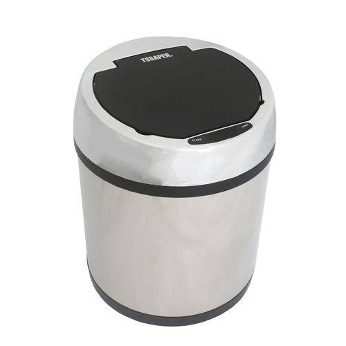 Lixeira Inox com Sensor Automático Capacidade 6 Litros 6lts 6l Banheiro Modelo TL6L Marca Tssaper