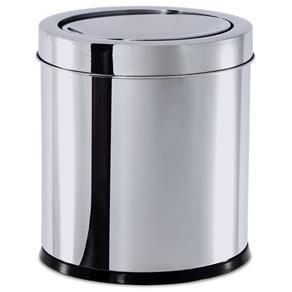 Lixeira Inox com Tampa Basculante 5,4 Litros Ø 18,5 X 20 Cm