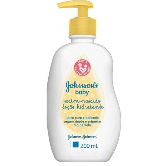 Loção Hidratante Johnson & Johnsons Baby Recém - Nascido 200ml