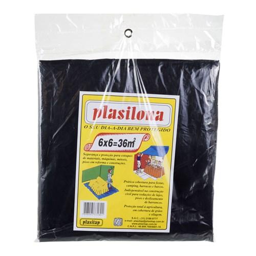 Lona Plástica 6x6m Preto Plasitap