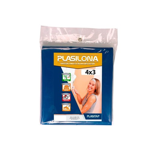 Lona Plástica Plasilona 4X3m Azul