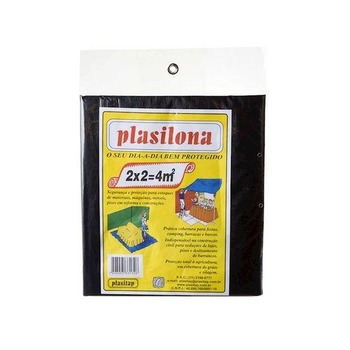 Lona Plástica Preta 2x2 (4m²) Plasitap