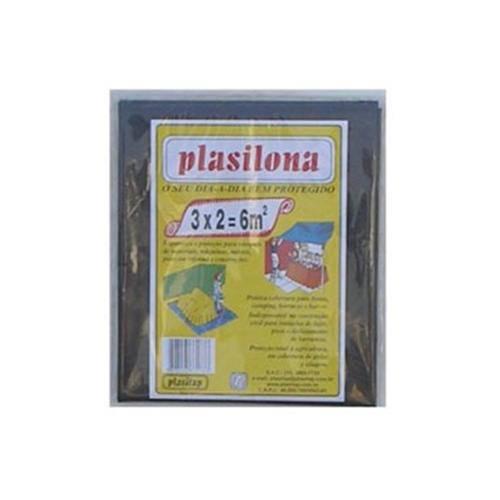 Lona Plástica Preta 3x2m Plasilona