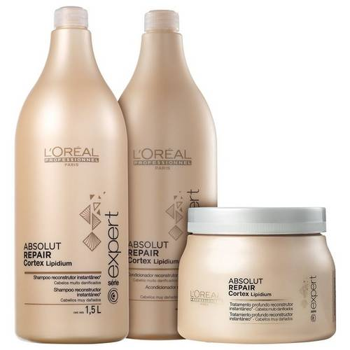 Tudo sobre 'Loréal Professionnel Absolut Repair Cortex Lipidium Kit Salão (3 Produtos)'