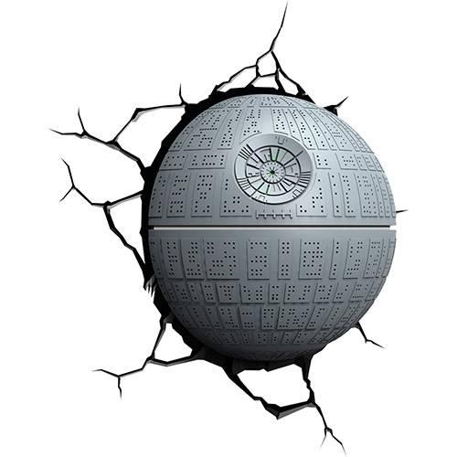 Tudo sobre 'Luminária de Parede Star Wars Estrela da Morte Cinza - 3D LIGHT FX'
