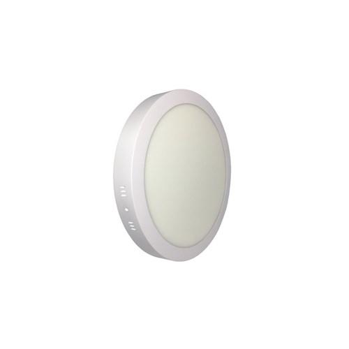 Luminária Led Painel Plafon Sobrepor 25W Redondo 30Cm Branco Quente