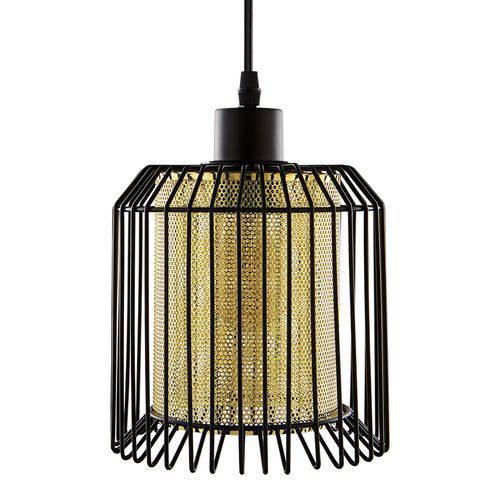 Luminária Lustre Pendente 15x22x15cm Metal Cobre