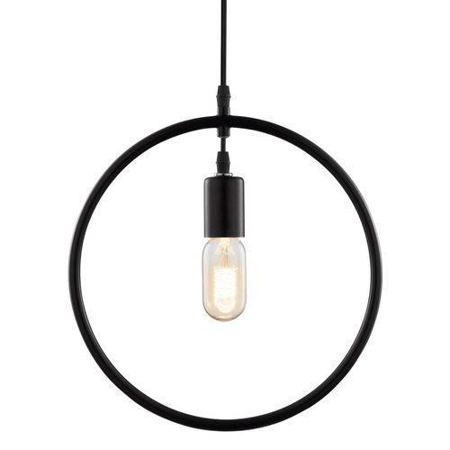Luminária Lustre Pendente 31x33x1,5cm Metal Preto