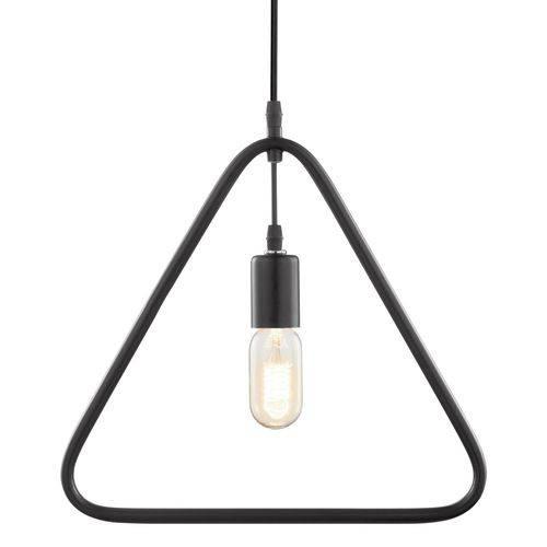 Luminária Lustre Pendente 35x35x1,5cm Metal Preto