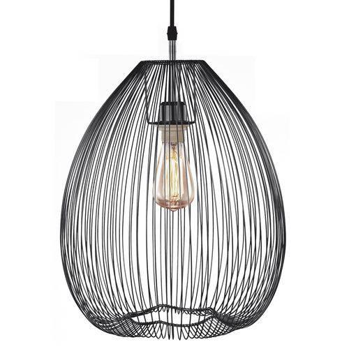 Luminária Lustre Pendente 38x43,5x38cm Metal Preto