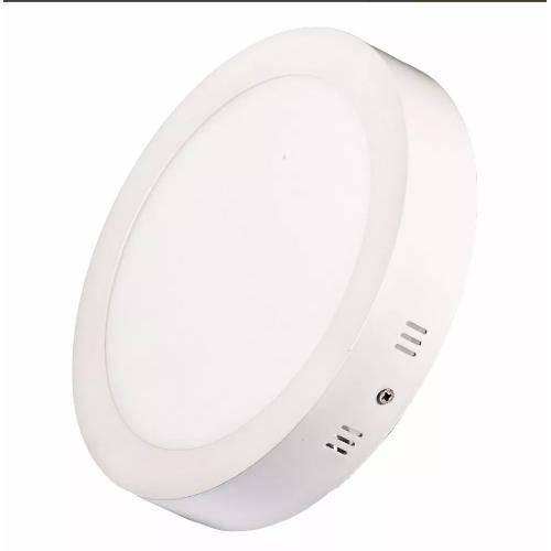 Luminária Painel Led Plafon de Sobrepor Redondo 18w Branco Quente