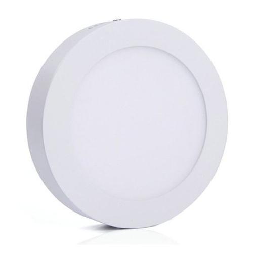 Luminária Painel Led Plafon de Sobrepor Redondo 12w Branco Quente
