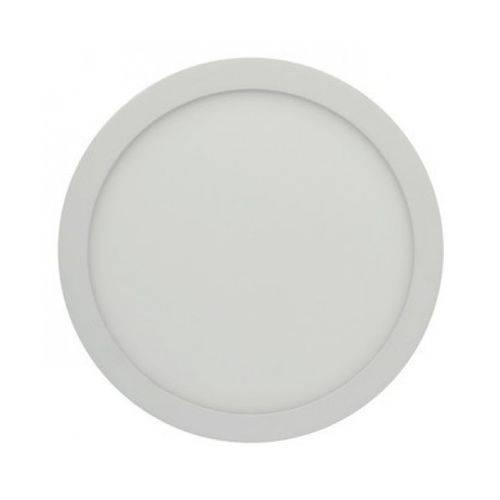 Luminária Painel Led Plafon de Sobrepor Redondo 25w Branco Quente