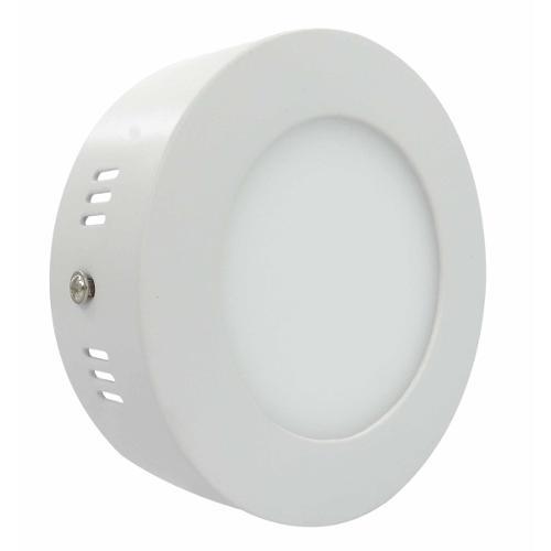Luminária Painel Led Plafon de Sobrepor Redondo 6w Branco Quente