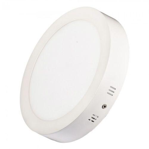 Luminária Painel Plafon 12w Led Redondo Sobrepor Branco Quente