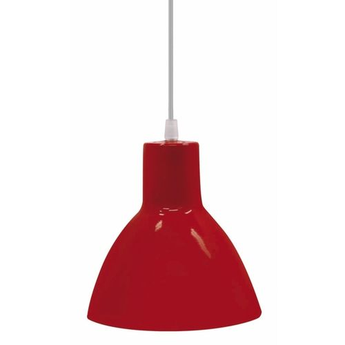 Luminária Pendente Design Td622/1 Taschibra Vermelha