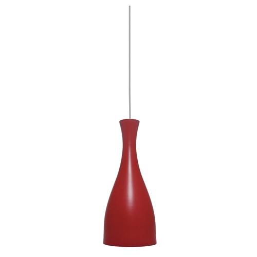 Luminária Pendente Taschibra Design Td1003 E27 Bivolt Vermelha Fosca