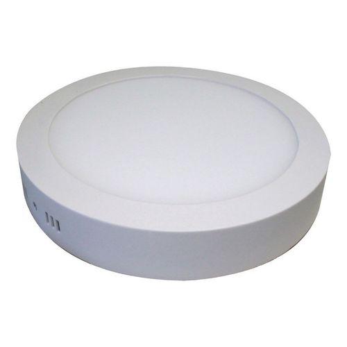 Luminária Plafon Painel Led 6w Redondo Sobrepor Branco Quente
