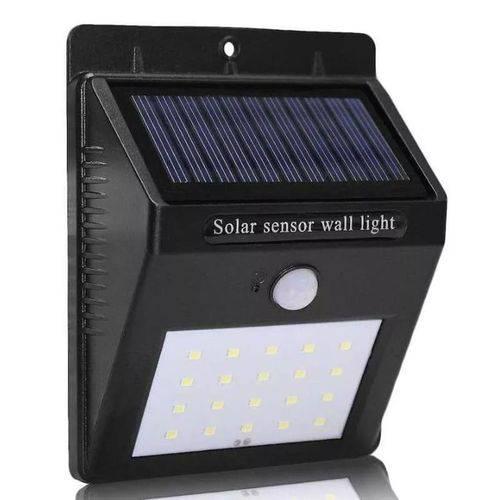 Tudo sobre 'Luminária Solar de Parede com Sensor de Movimento 25 Leds'