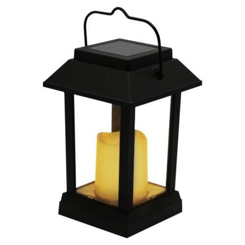 Tudo sobre 'Luminária Solar Lanterna com Vela Decorativa Portátil LED'