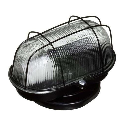 Luminária Tartaruga 1 Lâmpada Preta Metal e Vidro Franzmar