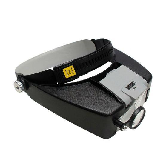 Tudo sobre 'Lupa de Pala / Cabeça com 3 Lentes 2 Leds Ajustáveis e Bifocal MG81007A1'