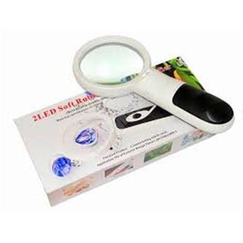 Tudo sobre 'Lupa Portatil com Iluminação Led de Mao para Limpeza de Pele Medicina e Industria Dupla 3x 75mm e 20'