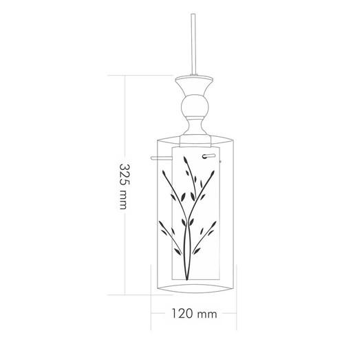 Lustre Mini Taschibra Design Td 292/1 - 1 Lâmpada Branco