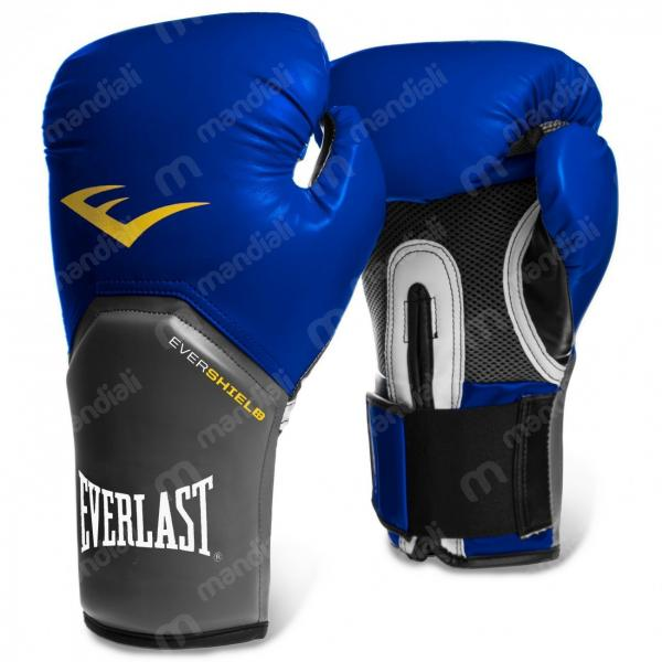 Luva Boxe Everlast Pro Style Elite Training 12 Oz Azul