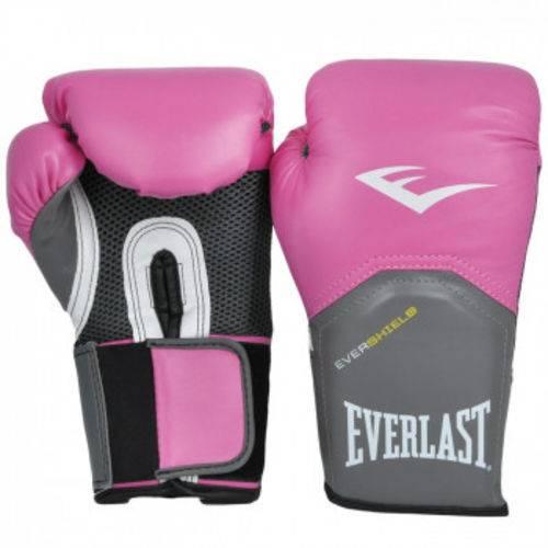 Luva Boxe Everlast Pro Style Elite Training 14 Oz Rosa