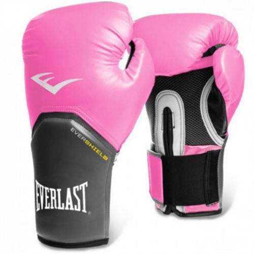 Luva Boxe Everlast Pro Style Elite Training 8 Oz Rosa com Cinza