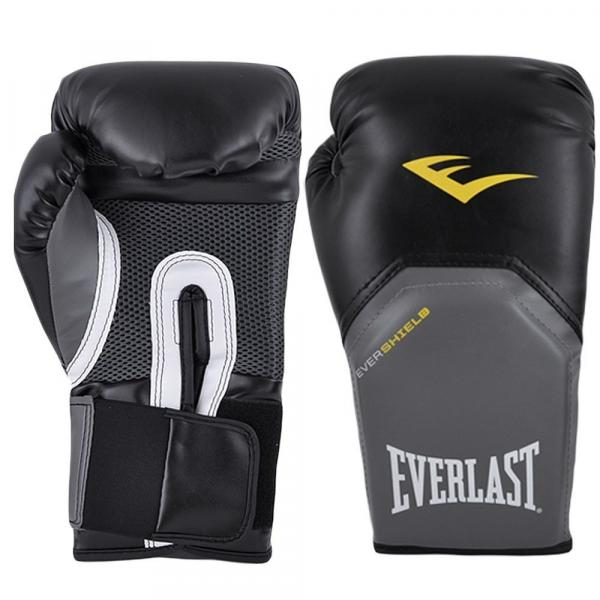 Luva Boxe Muay Thai 12 Oz Everlast Pro Style Preta