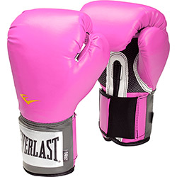 Luva de Boxe Everlast Pro Style 14Oz Pink Velcro Evercool Everfresh Pu