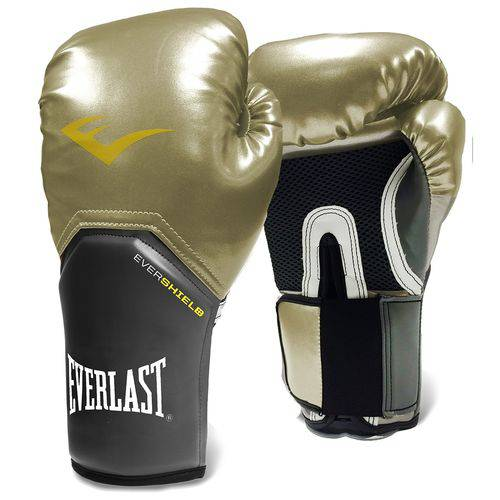 Luva de Boxe Everlast Pro Style Elite Training - Everlast - Dourada