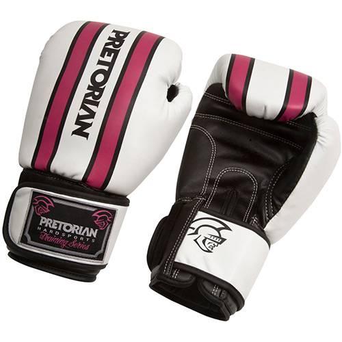 Tudo sobre 'Luva de Boxe Training - 12 OZ Rosa/Branca - Pretorian'