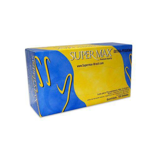 Luva de Látex para Procedimento Supermax com 100 EP