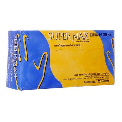 Luva de Látex PP com 100 Unidades Supermax