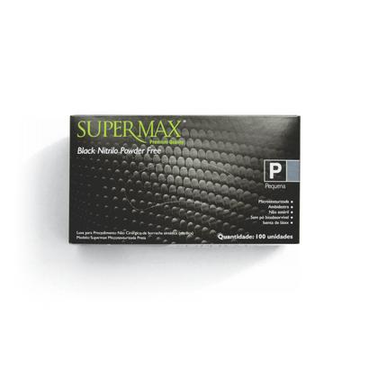 Luva de Procedimento Black Nitrilo Tam P Supermax